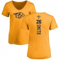 Women's Cole Smith Nashville Predators One Color Backer T-Shirt - Gold